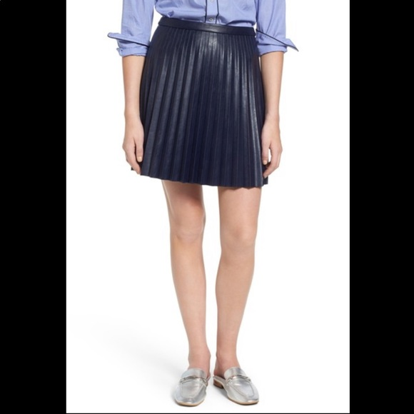 J. Crew Dresses & Skirts - NWT J. Crew Pleated faux leather skirt